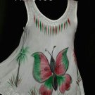 4 Pcs White Rayon Summer Beach Tops for Ladies