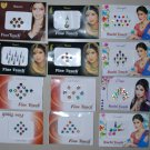 Designer 108 Sheets Rhinestone Bindi and Stcikers for Women Belly dance