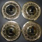 Finger Cymbals with Paisley Pattern - Gold Plated Zills