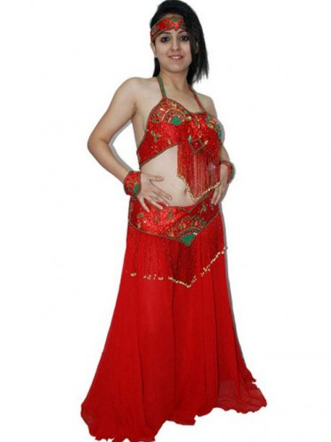 Belly Lady Gypsy  Belly Dance Costume, Bra and Lotus Skirt Set