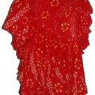 West African Dance polka dot skirt Red Color