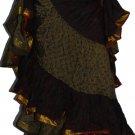 25 yard Tribal Gypsy Skirt  ATS Dance -Saree Lace Lotus