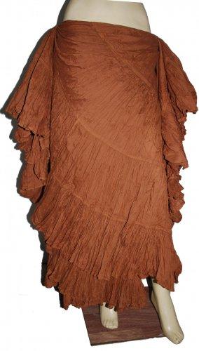 Brown Hand made tribal belly dance skirt uk