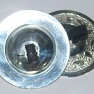 4 pcs Silver Finger Cymbals tone for Belly Dancers