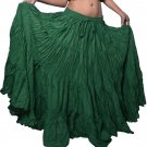 Green Gothic Fusion Belly Dance 12 Yard Skirt