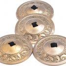 2 pairs Golden Color Belly Dancing Finger Zills Finger Cymbals