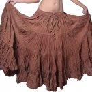 Indiantrend 25 Yard Belly Dance Skirt Australia - Brown