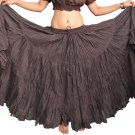 Indiantrend 25 Yard Belly Dance Skirt Australia - Coffee