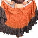Indiantrend 25 Yard Belly Dance Skirt Australia - Copper/Coffee