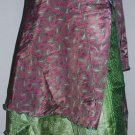 25 Vintage Silk Sari Magic wrap skirts small height