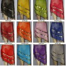 3 rows gold coins belly dance hip scarf belt skirt waist chain wrap Lot of 12
