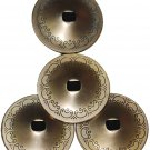 4pcs Steel Gold Finger Cymbals Zills Belly Dance Dancer Costume Party Jewelry