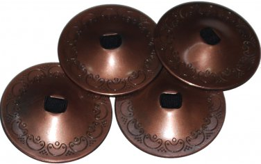4 Pcs of Steel Copper Finger Cymbals Zills for Belly Dance Accessories
