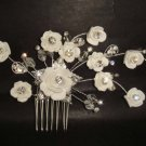Bridal flower Crystal Hair tiara rhinestone comb RB400