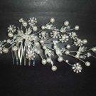 Bridal Faux Pearl Rhinestone Hair tiara Comb RB252