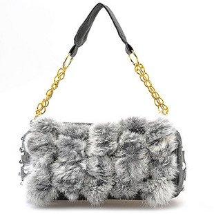 Wedding Party Rabbit Fur Shoulder bag Purse handbag LB8