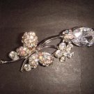 Bridal Flower Butterfly Rhinestone Brooch pin Pi338