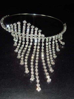 Bridal Wedding Rhinestone Bangle Bracelet Armlet BR83
