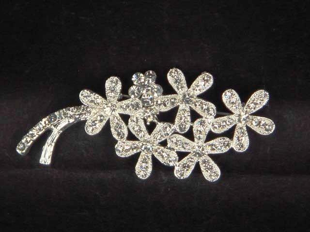 Bridal crystal Flower cake Rhinestone Brooch pin PI388