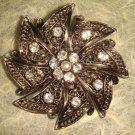 Bridal Crystal Vintage Rhinestone Brooch pin Pi206