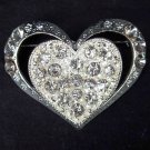 Bridal Heart Crystal Rhinestone Brooch pin PI310