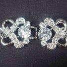 Dress Crystal Rhinestone clasp hook buckle button BU13