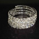 Bridal 4 row Rhinestone Stretch Bracelet Armlet BR173