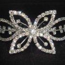 Bridal Rhinestone Flower Crystal Hair tiara Comb RB438