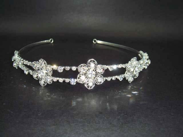 Bridal Wedding Rhinestone Headband Hair Tiara HR03