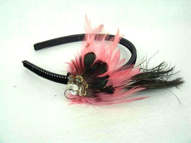Bridal Feather peacock Pheasant Hair Headband HR81