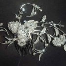 Bridal Rhinestone Flower Crystal Hair tiara Comb RB111B