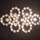 Dress Crystal Rhinestone clasp hook buckle button BU09