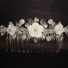 Bridal Rhinestone Flower Crystal Hair tiara Comb RB436