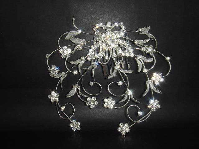 Bridal Rhinestone Butterfly Hair tiara Comb RB31