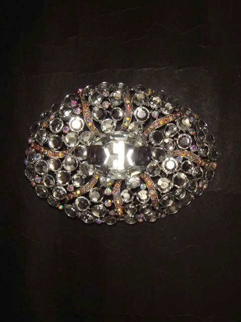 Bridal dress vintage style Rhinestone Brooch pin Pi404