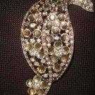 Bridal dress Leaf crystal Rhinestone Brooch pin Pi296