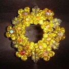 Bridal Crystal Wreath Rhinestone Brooch pin PI118