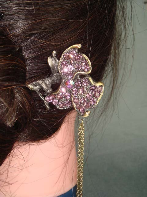 French Twist Rhinestone Vintage style Hair stick RP09