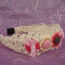 Bridal Flower girl Red Crochet Hair Headband HR119