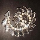 Bridal spiral Vintage style Rhinestone Brooch pin PI301