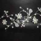 Bridal Crystal Rhinestone Flower Hair tiara Comb RB60