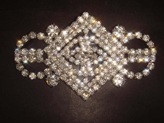 Bridal dress Vintage style Rhinestone Brooch pin PI256