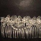 Bridal Rhinestone Faux Pearl Hair Tiara Comb RB427