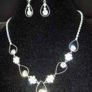 Bridal Rhinestone Bracelet necklace earring Set NR150