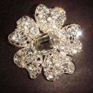 Bridal Flower Crystal cake  Rhinestone Brooch pin Pi329