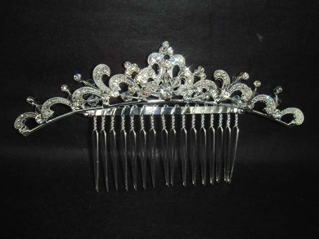 Wedding Bridal crystal Rhinestone Hair tiara Comb RB396