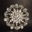 Bridal Crystal bling Rhinestone Brooch pin PI145