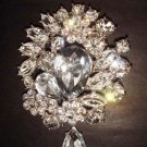Bridal Dress Vintage style Rhinestone Brooch pin PI260