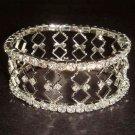 Bridal Crystal Rhinestone Bangle rhombus Bracelet BR157