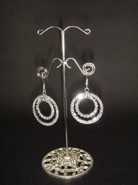 Bridal gray rhinestone bridesmaid gift  Earrings ER24
